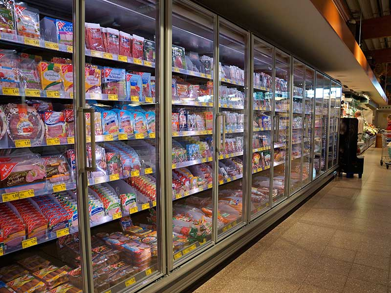 Große Auswahl an Kühlwaren